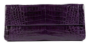 Nancy Gonzalez leather clutch