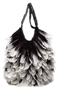 Tom Ford Leather Feather Bag